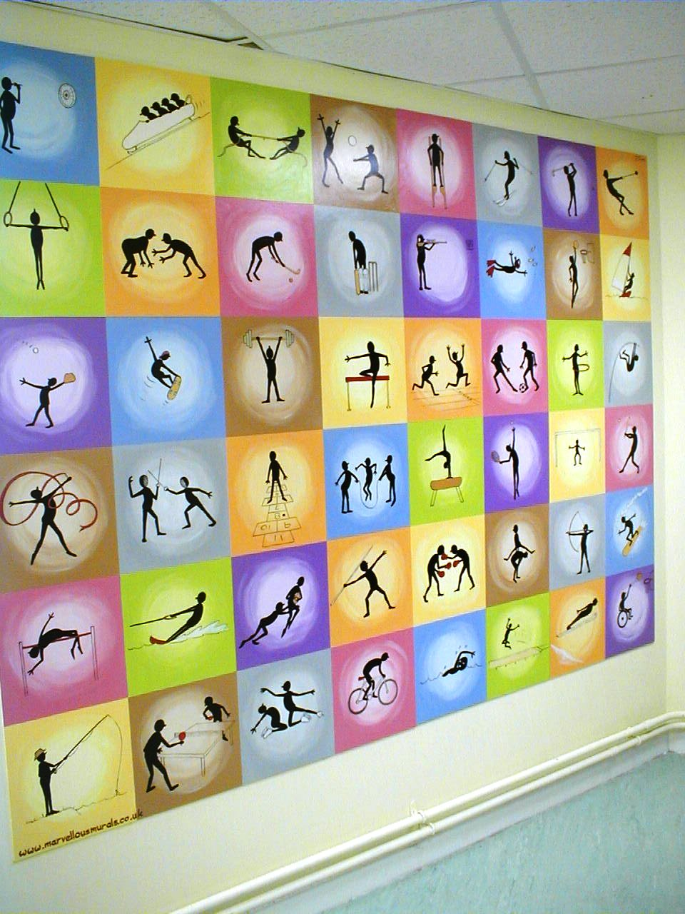 design 720540 sports murals sports murals by andrew goralski school sports mural sports murals