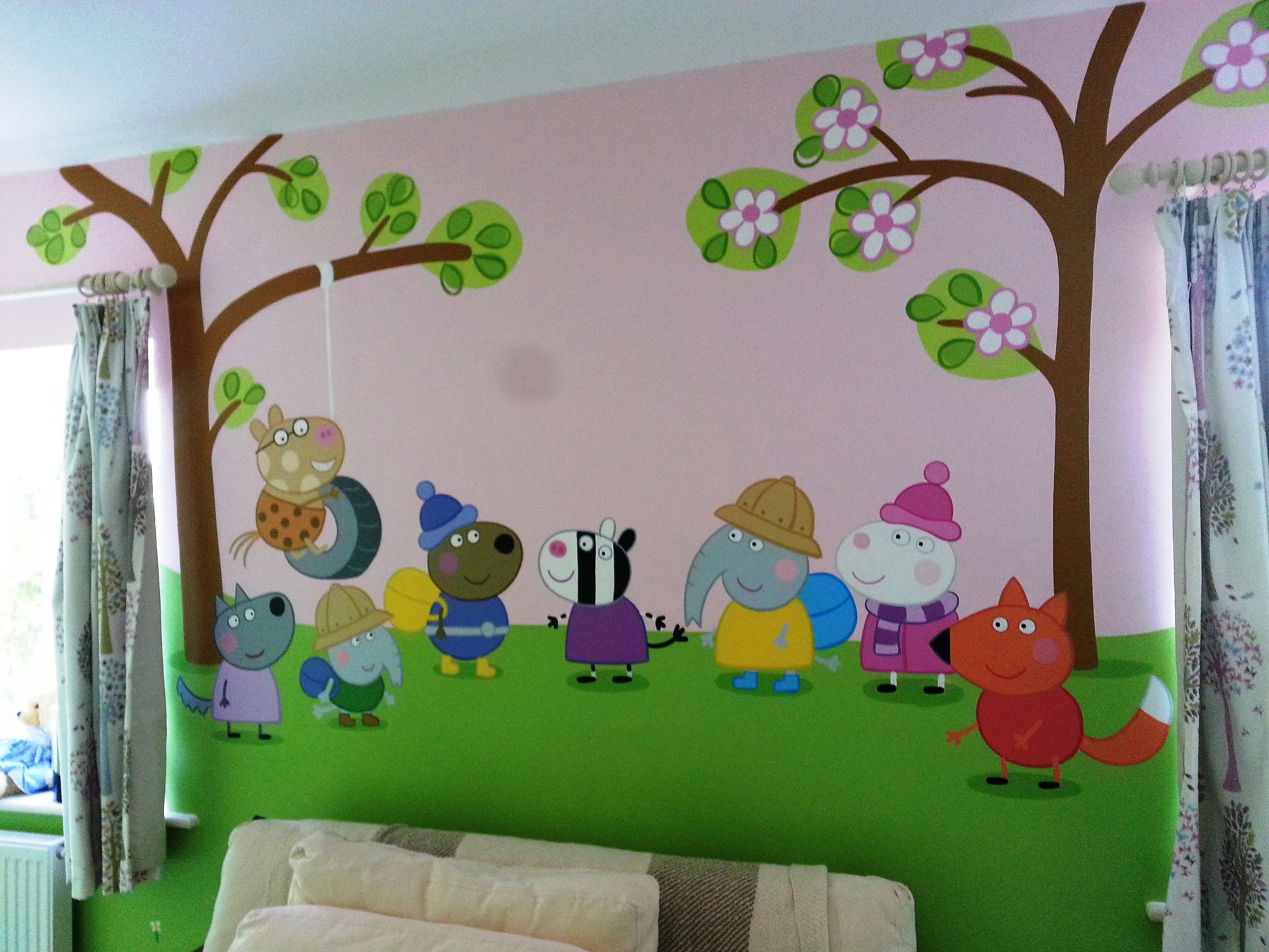 Our latest mural paintings the following week i was painting some murals for deans daughter robyn she is expecting her second child in august so wanted a pretty grey themed amipublicfo Image collections