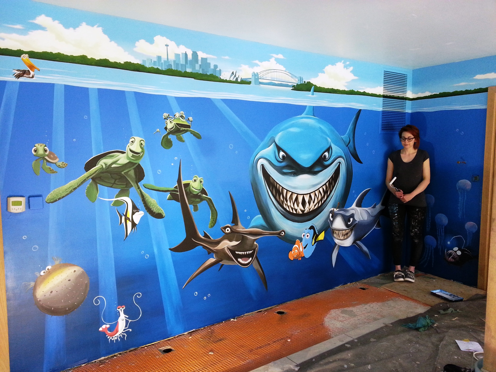 Paint murals on walls for Airbrush mural painting