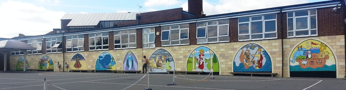 The Wall Is 132 Feet Long Running From 7 To 12 Feet High And We Painted It  To Look Like Large Stained Glass Windows Each Depicting A Story From The  Bible. Part 40