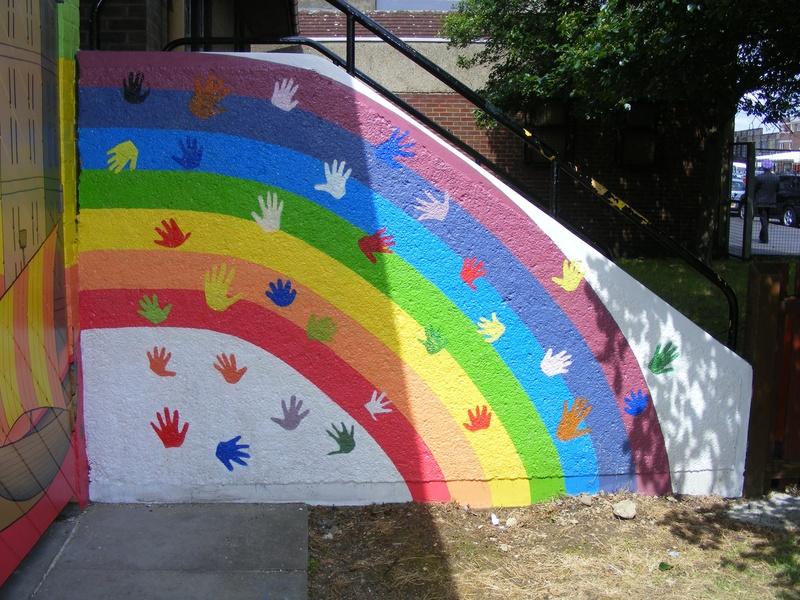 Delightful wall decoration ideas for preschool 4 for Mural for school