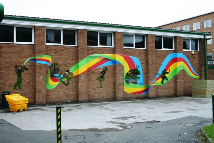 Our latest mural paintings for Mural school