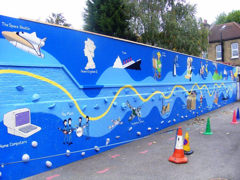 Timeline school mural for Mural for school