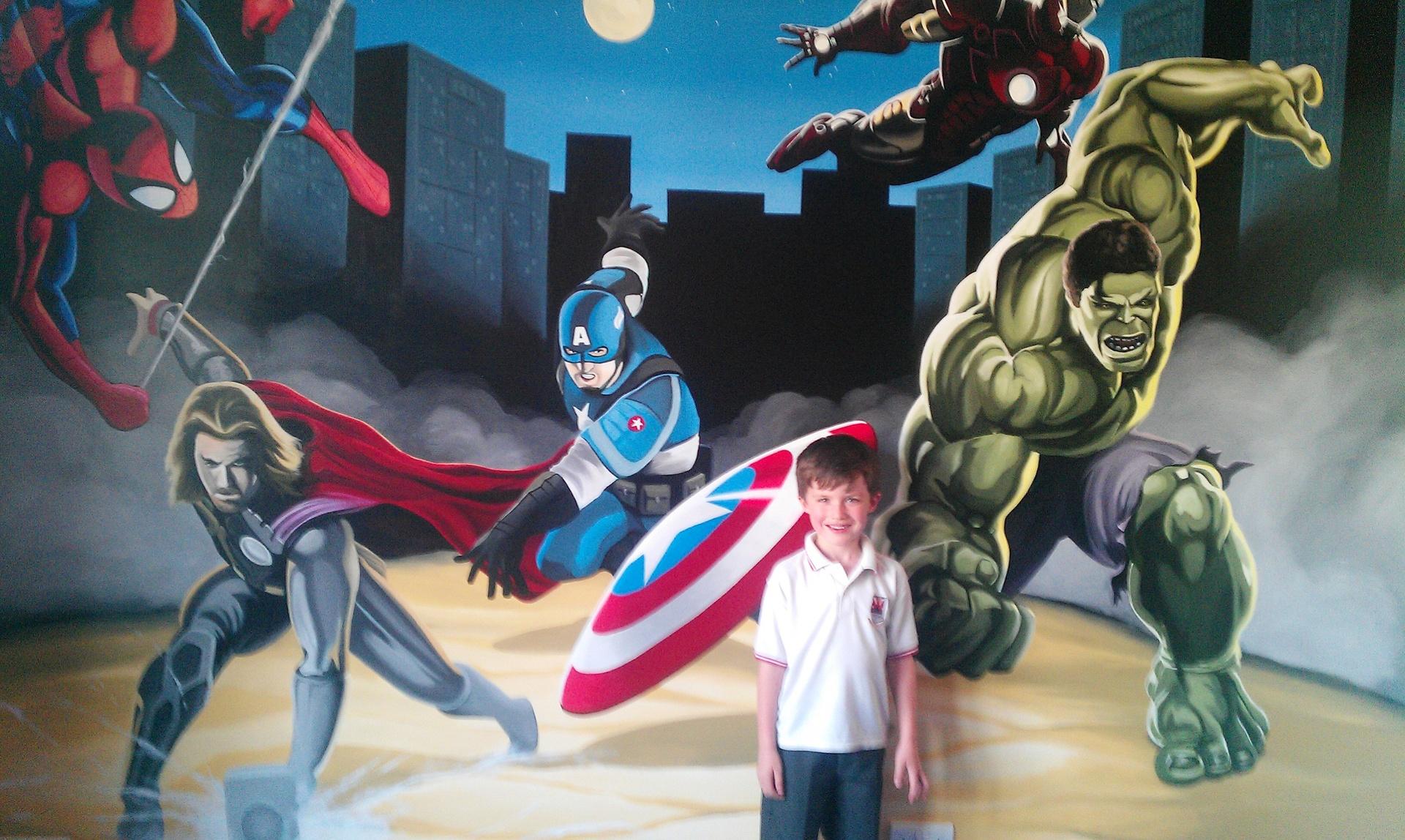 superhero wall mural www galleryhip com the hippest pics gallery for gt superhero cityscape mural