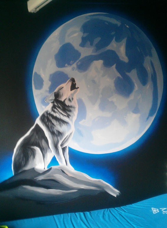 Our latest mural paintings for Blue moon mural